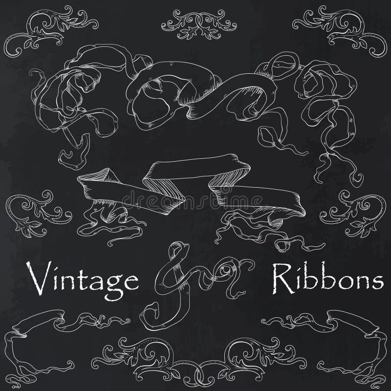Collection de rubans de vintage illustration stock