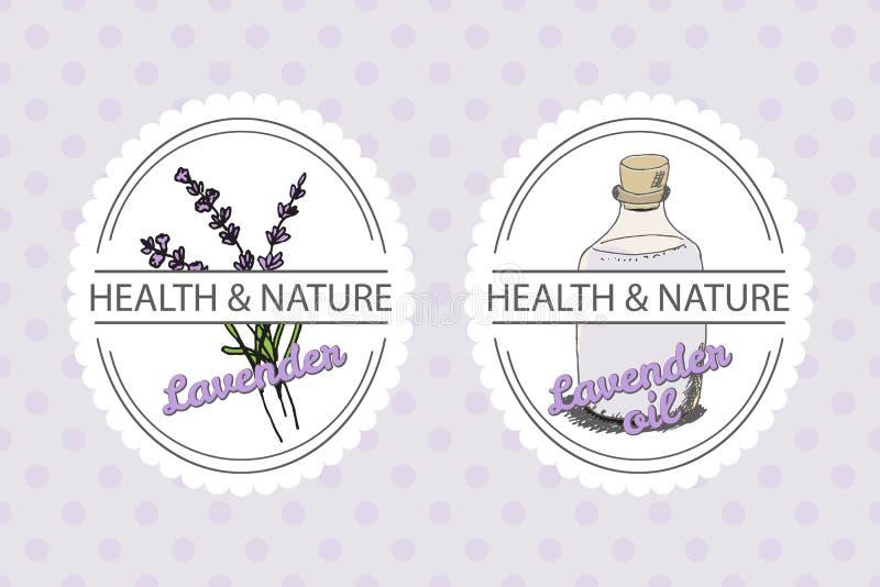 Collection de santé et de nature Lavande illustration de vecteur