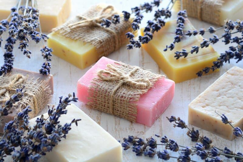 Collection de savon fait main image libre de droits