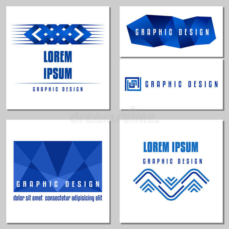 Collection de signes abstraits pour des logos de media illustration stock