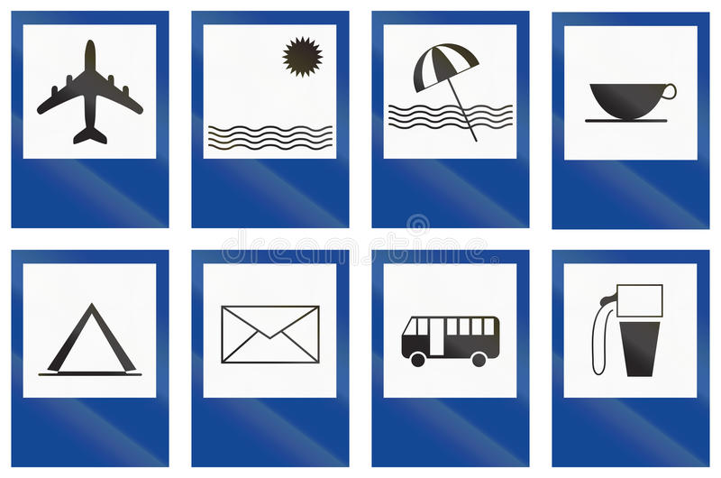 Collection de signes de voie de service argentins illustration libre de droits