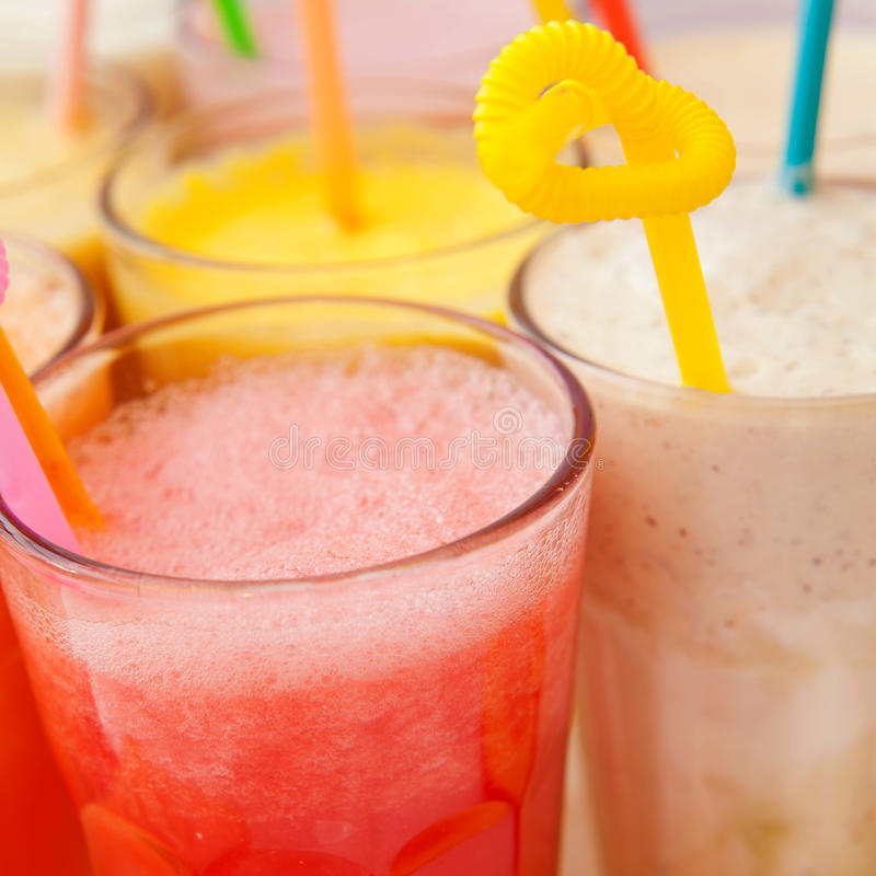 Collection de smoothie de fruit photographie stock libre de droits