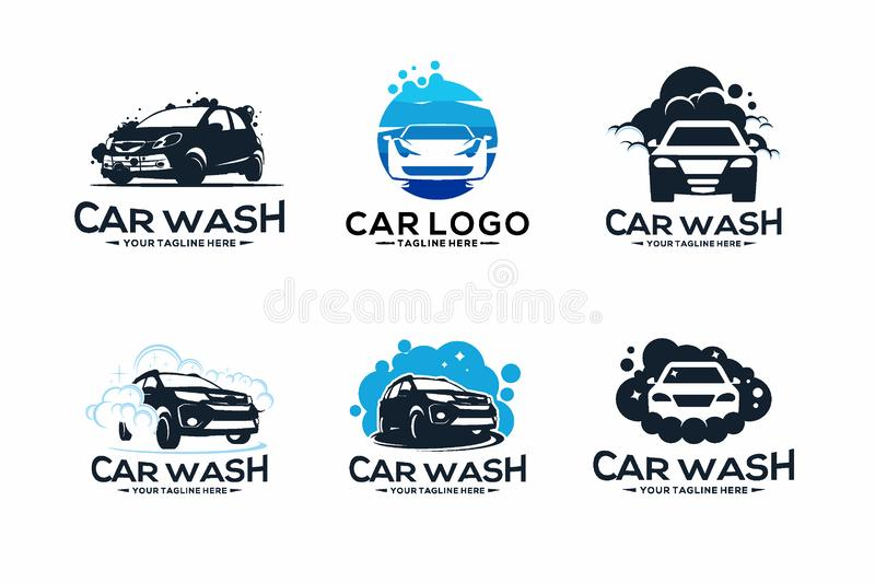 Collection de station de lavage Logo Design Template illustration libre de droits