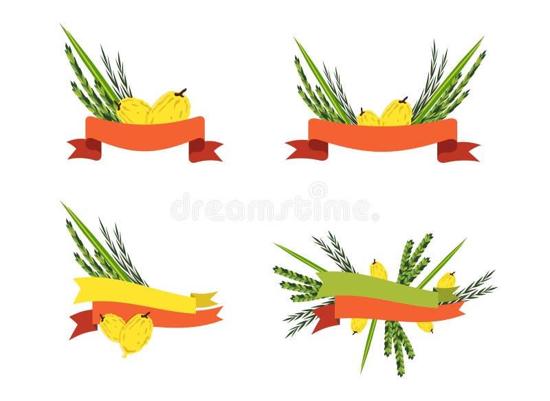 Download Collection De Sukkot, Quatre Symboles Des Vacances Juives Illustration de Vecteur - Illustration du neuf, décoration: 76079101