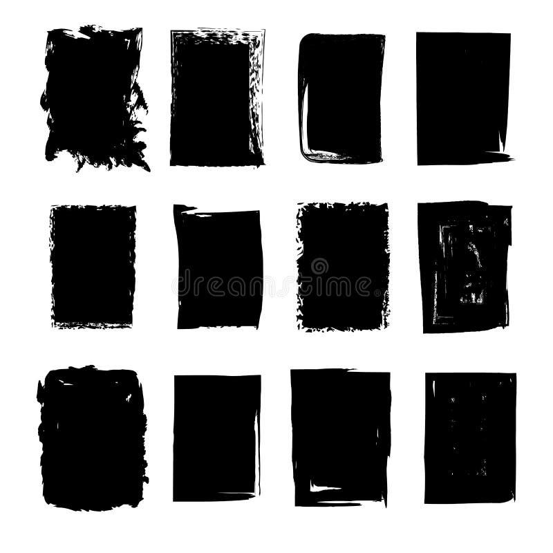 Collection de taches tirées par la main de rectangle illustration libre de droits