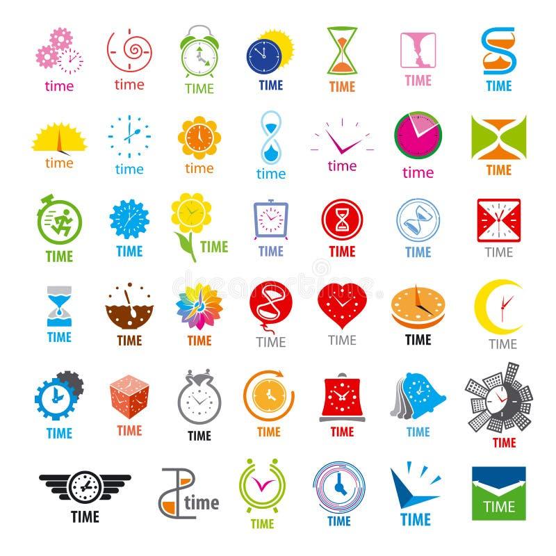 Collection de temps de logos de vecteur illustration stock