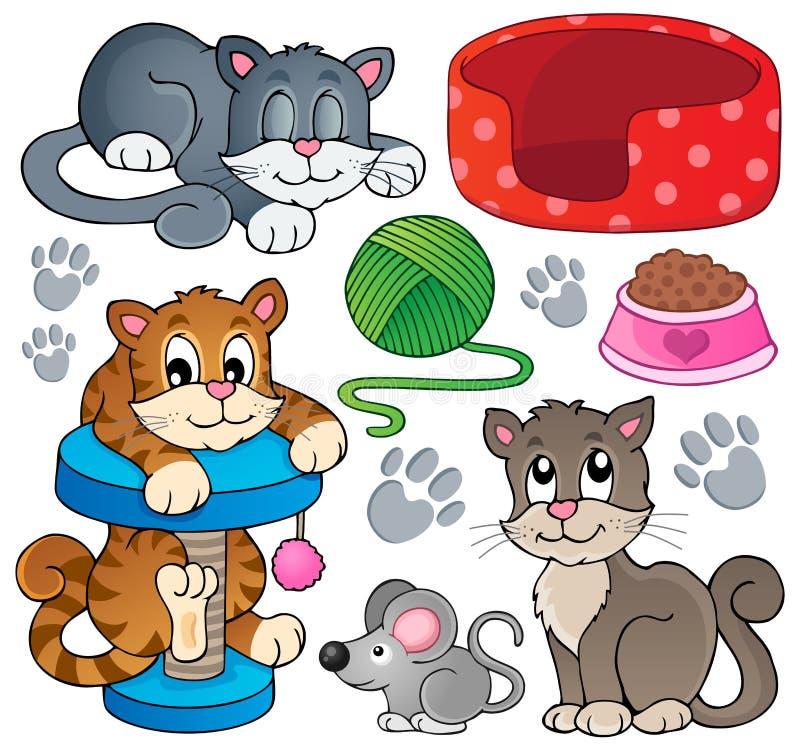 Collection 1 de thème de chat illustration stock
