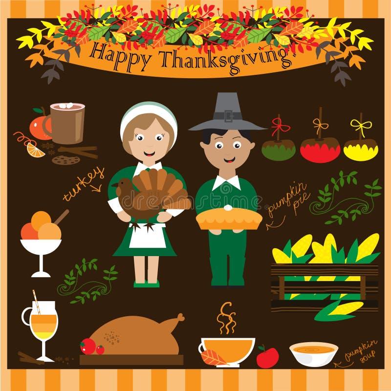 Collection de thanksgiving illustration de vecteur