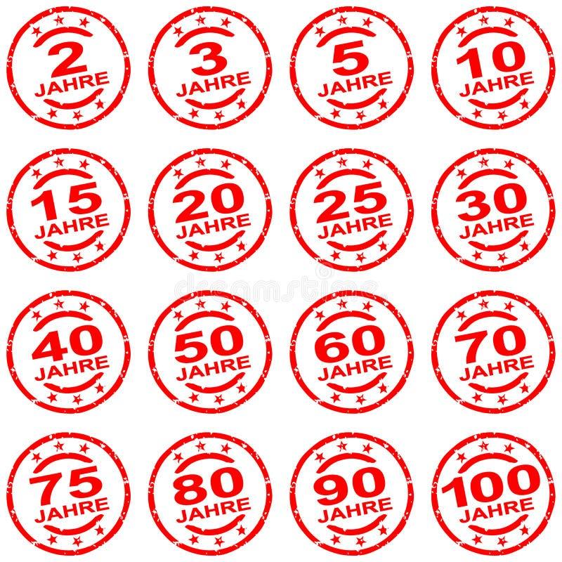 collection de timbre grunge pour des jubilés illustration libre de droits