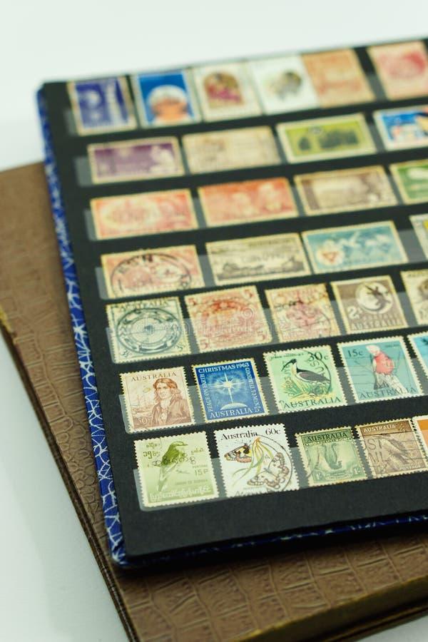 Collection de timbre-poste de vintage photographie stock