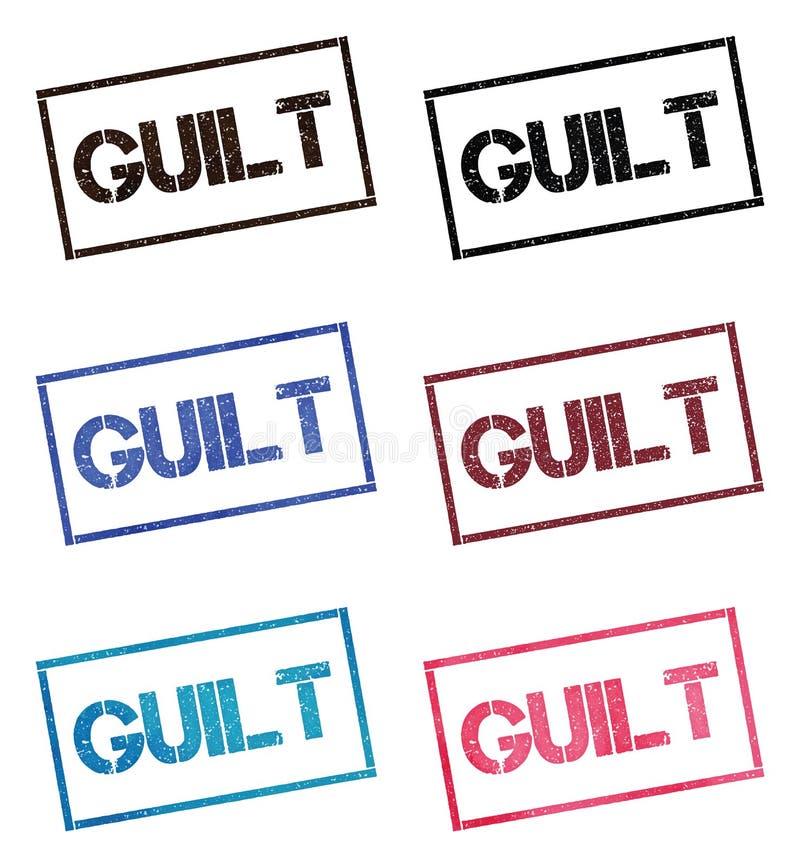 Collection de timbre rectangulaire de culpabilité illustration libre de droits
