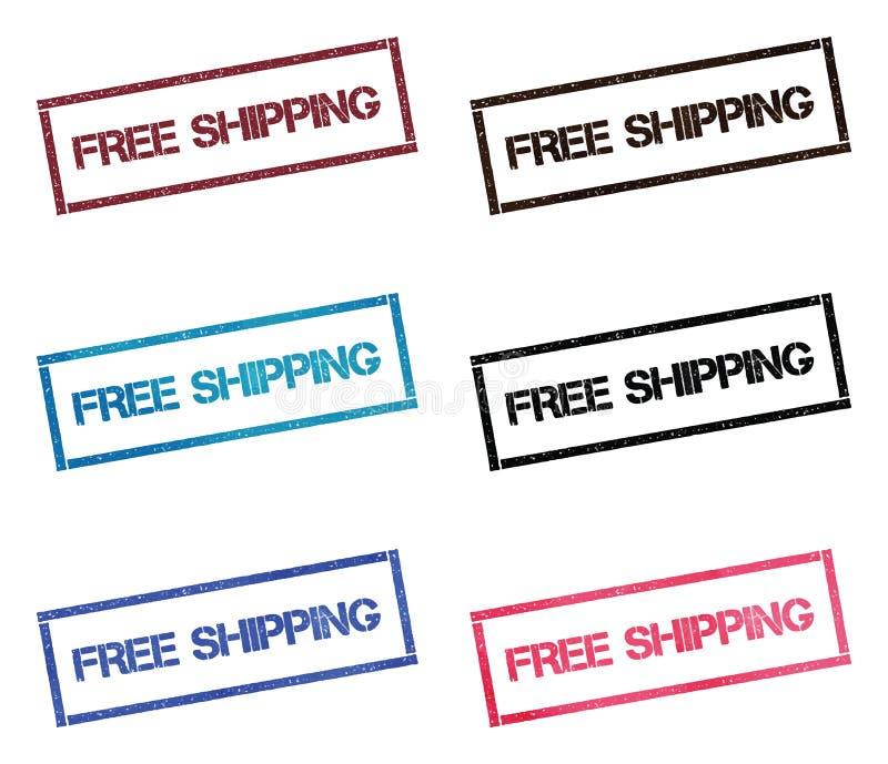 Collection de timbre rectangulaire de expédition libre illustration de vecteur