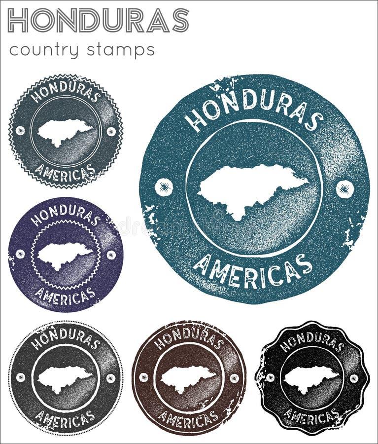 Collection de timbres du Honduras illustration de vecteur