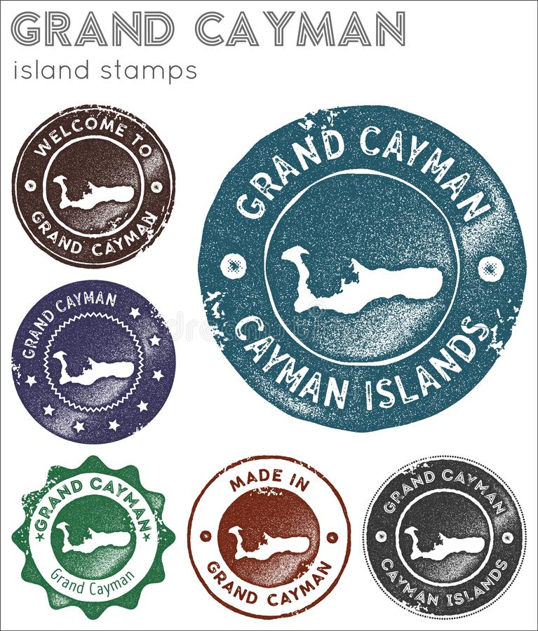 Collection de timbres de Grand Cayman illustration de vecteur