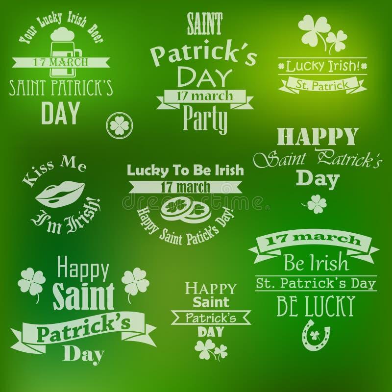 Collection de vecteur de bannières du jour de St Patrick illustration libre de droits