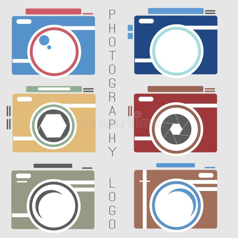 Collection de vecteur de calibres de logo de photographie Logotypes de Photocam Insignes et icônes de vintage de photographie Lab illustration de vecteur