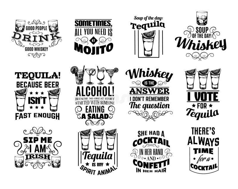 Collection de vecteur de fond typographique de citation photo stock