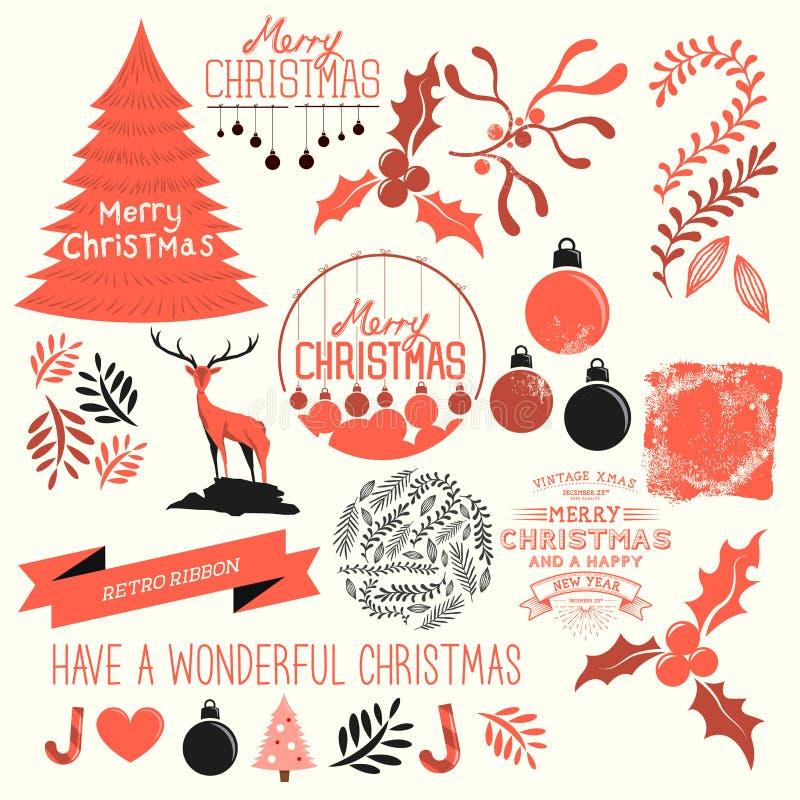 Collection de vecteur de Noël illustration stock