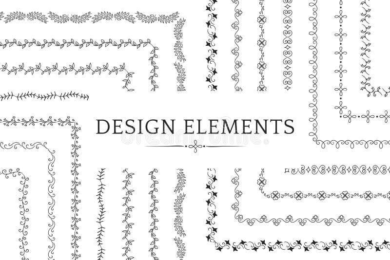 Collection de vecteurs d'élément de conception de diviseur illustration de vecteur