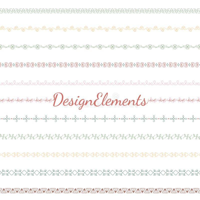 Collection de vecteurs d'élément de conception de diviseur illustration libre de droits