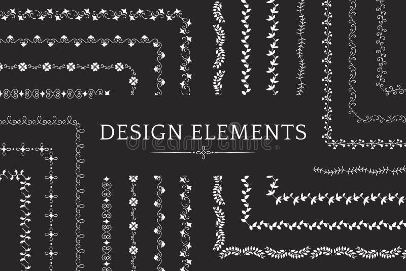 Collection de vecteurs d'élément de conception de diviseur illustration stock