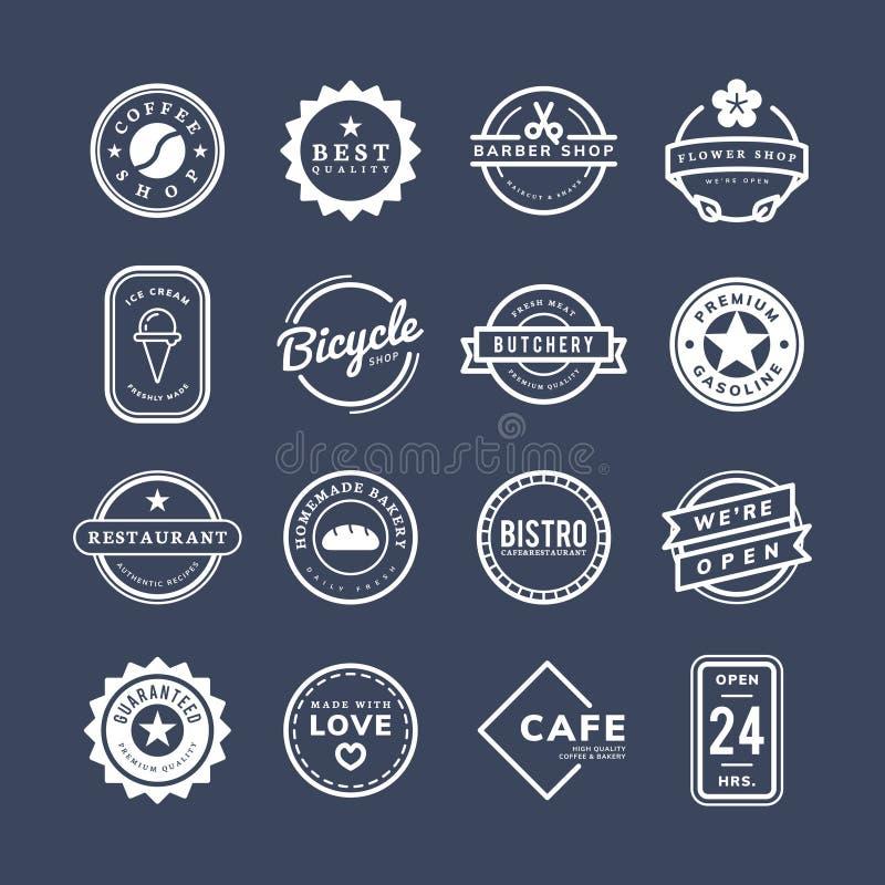 Collection de vecteurs de logo et d'insigne illustration libre de droits