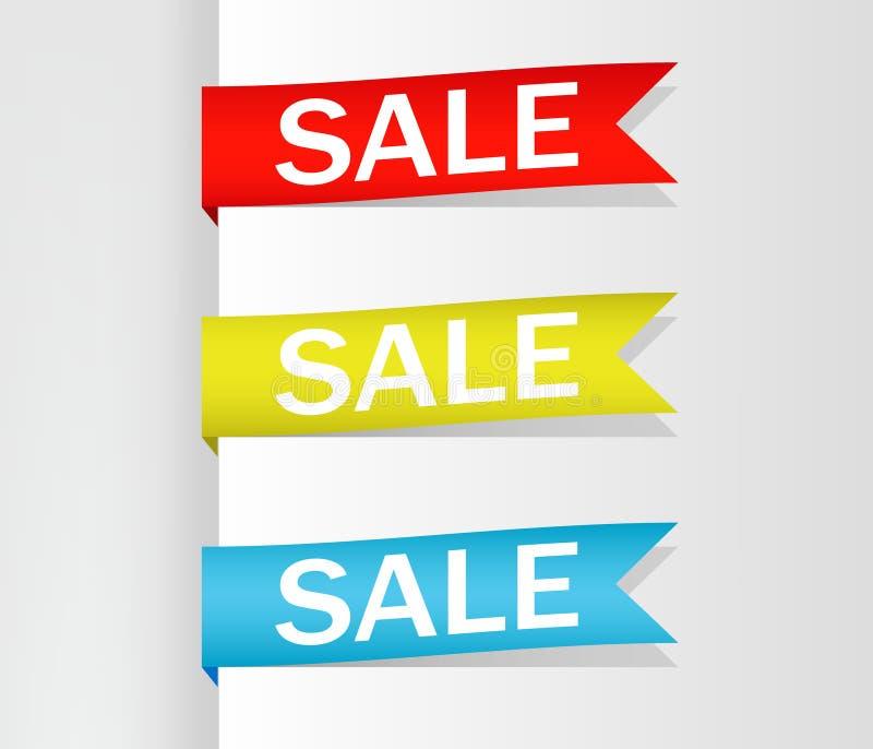 Collection de vente, banni?res, labels, ?tiquettes, Tally Emblems, cartes, conception plate Vecteur illustration stock