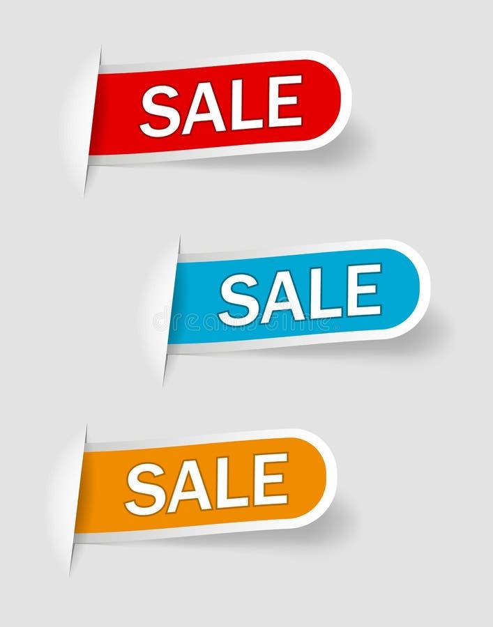 Collection de vente, banni?res, labels, ?tiquettes, Tally Emblems, cartes, conception plate Vecteur eps10 illustration libre de droits