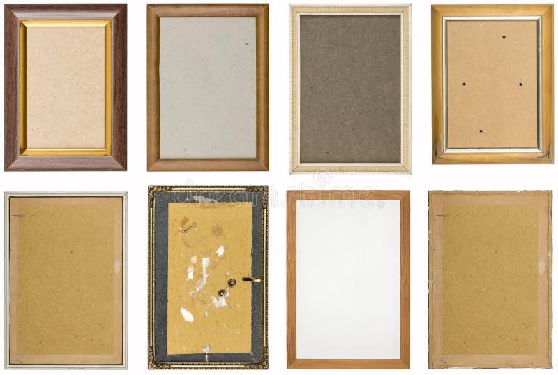 Collection de vieux cadres de tableau utilisés photographie stock