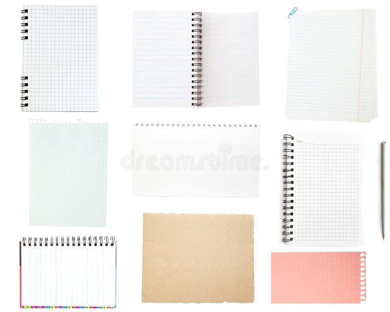 Collection de vieux papier de note photo stock