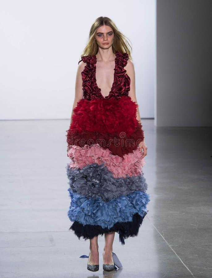 Collection de Vivienne Hu Fall /Winter pendant la semaine de mode de New York photos stock