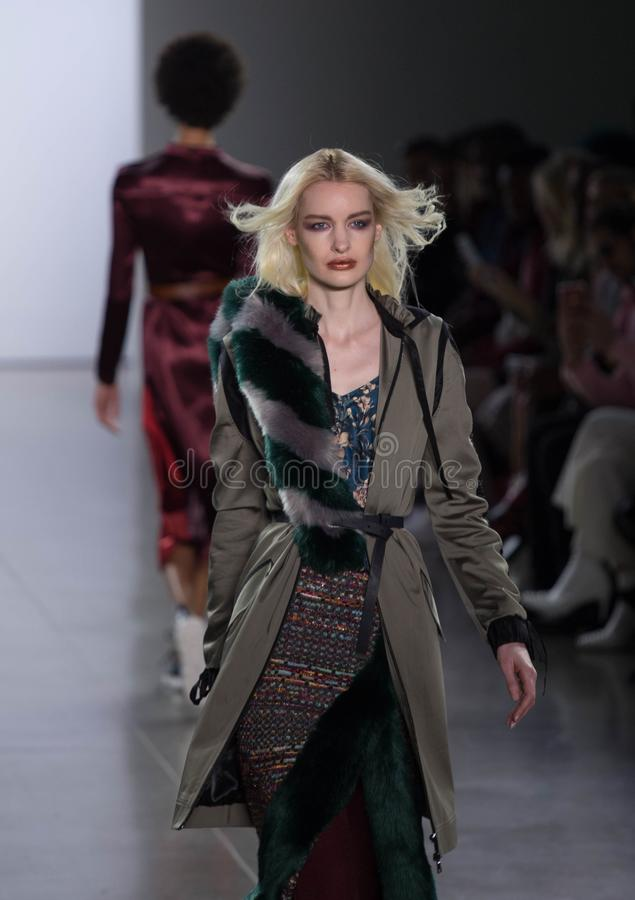 Collection de Vivienne Hu Fall /Winter pendant la semaine de mode de New York image stock
