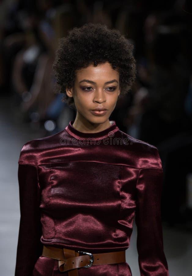 Collection de Vivienne Hu Fall /Winter pendant la semaine de mode de New York photographie stock libre de droits
