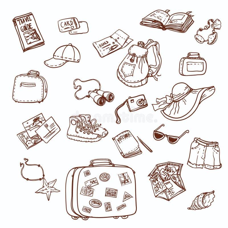 Collection de voyage illustration stock