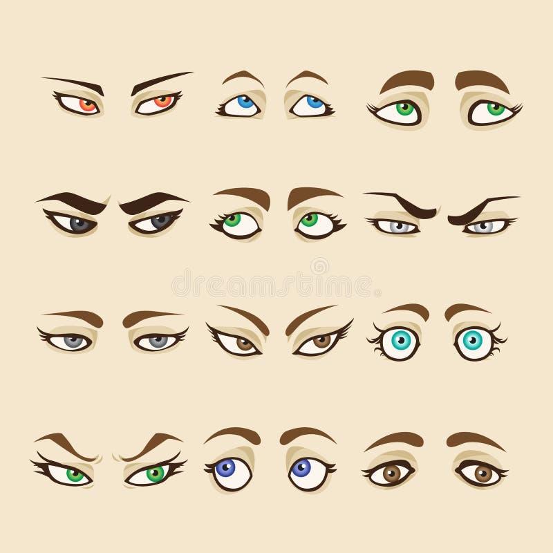 Collection de yeux de femme illustration stock