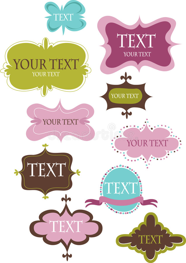 Download Collection Of Design Retro Frames Stock Vector - Image: 9339957