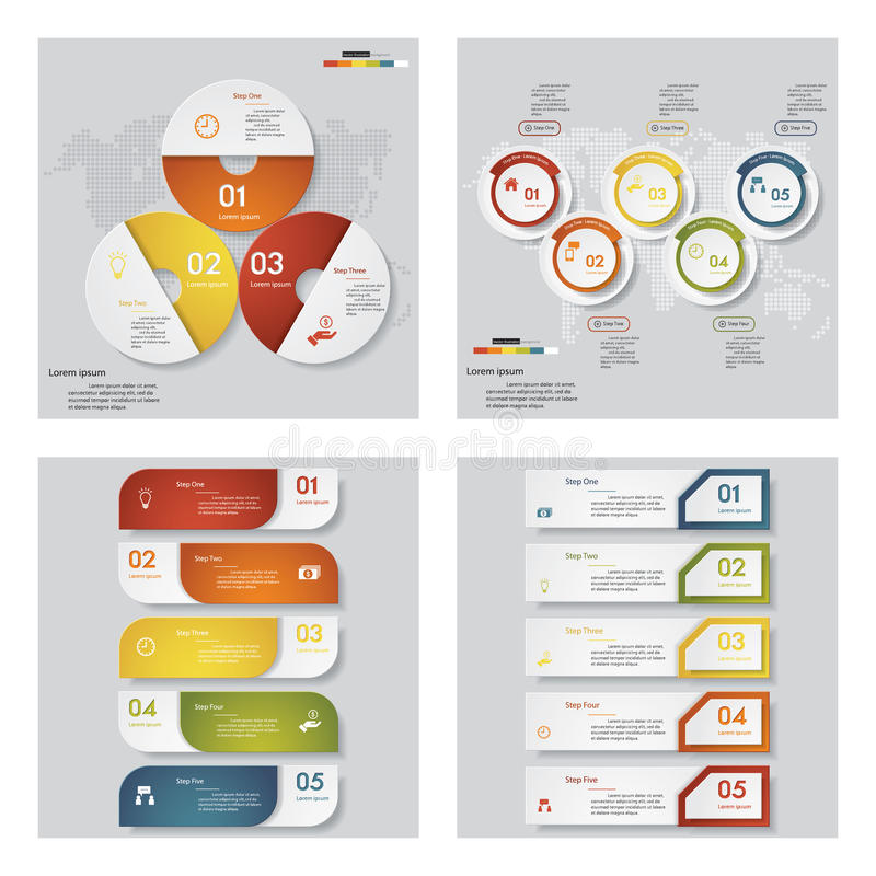 Collection of 4 design template/graphic layout. Vector. Collection of 4 design template/graphic or website layout. Vector Background. For your idea and royalty free illustration