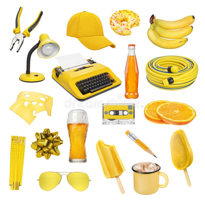 Collection of different objects isolated royalty free stock image