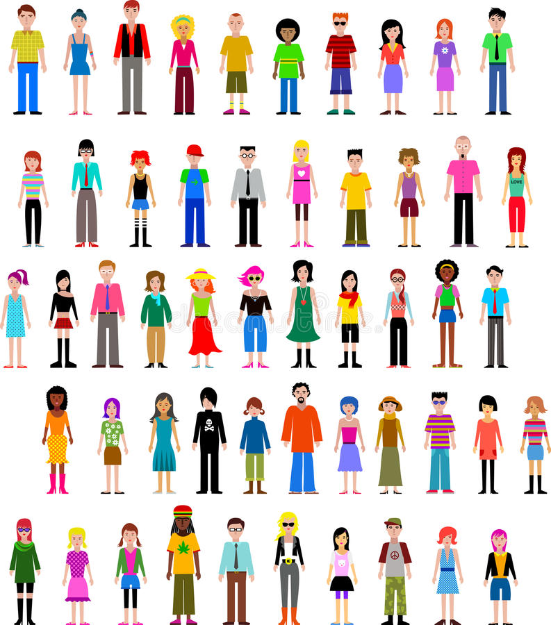 Download Collection Of Different  People Stock Vector - Image: 19656353