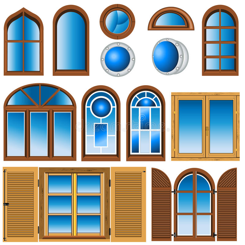 Download Collection Of Different Windows Stock Vector - Image: 22067997