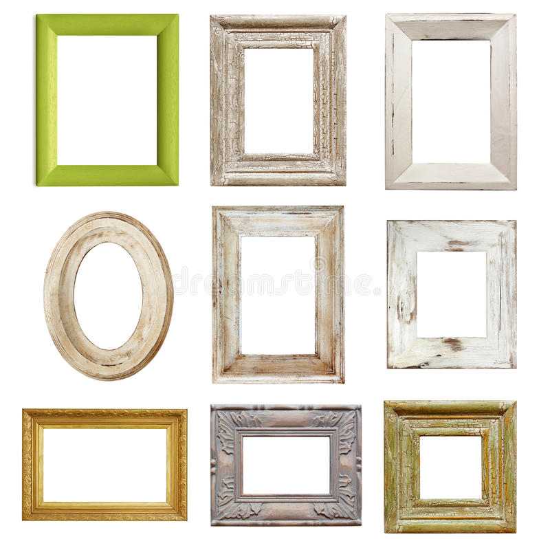 Download Collection Of Distressed Picture Frames Stock Photo - Image of montage, vintage: 24234802