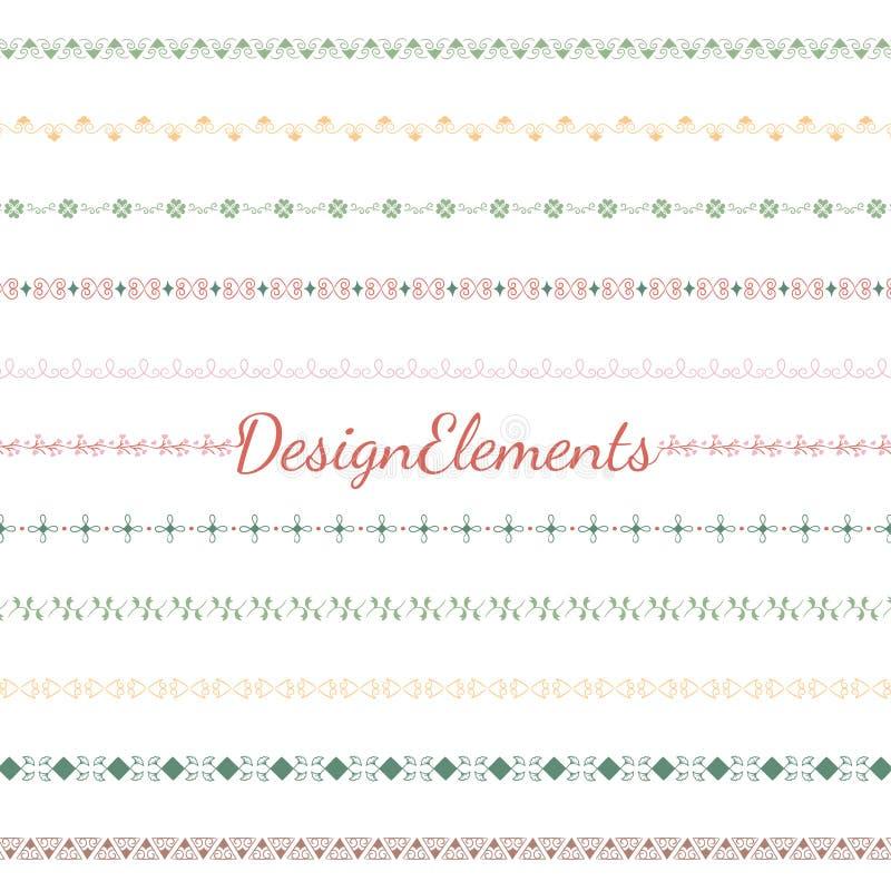 Collection of divider design element vectors vector illustration