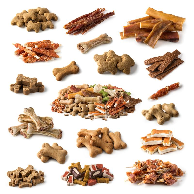 Collection of dog snacks royalty free stock photo