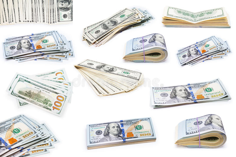Collection dollars royalty free stock images