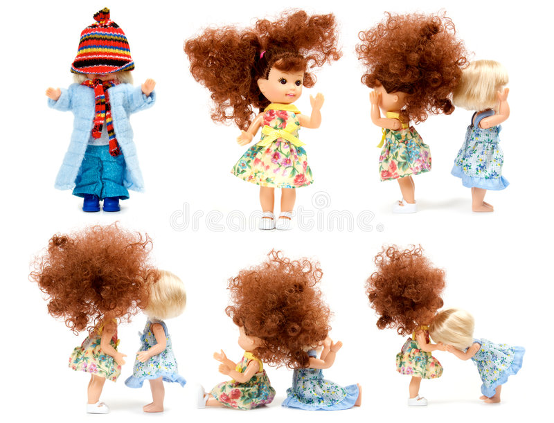 Download Collection dolls stock image. Image of clothes, little - 7255001