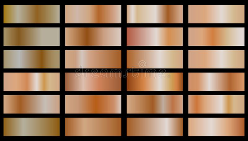 Collection du gradient en bronze illustration libre de droits