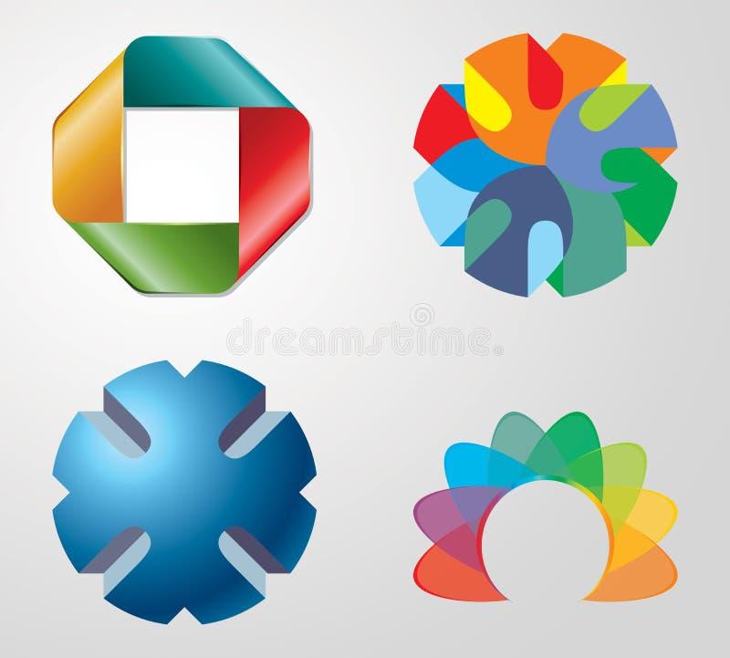 collection du logo 3D illustration de vecteur