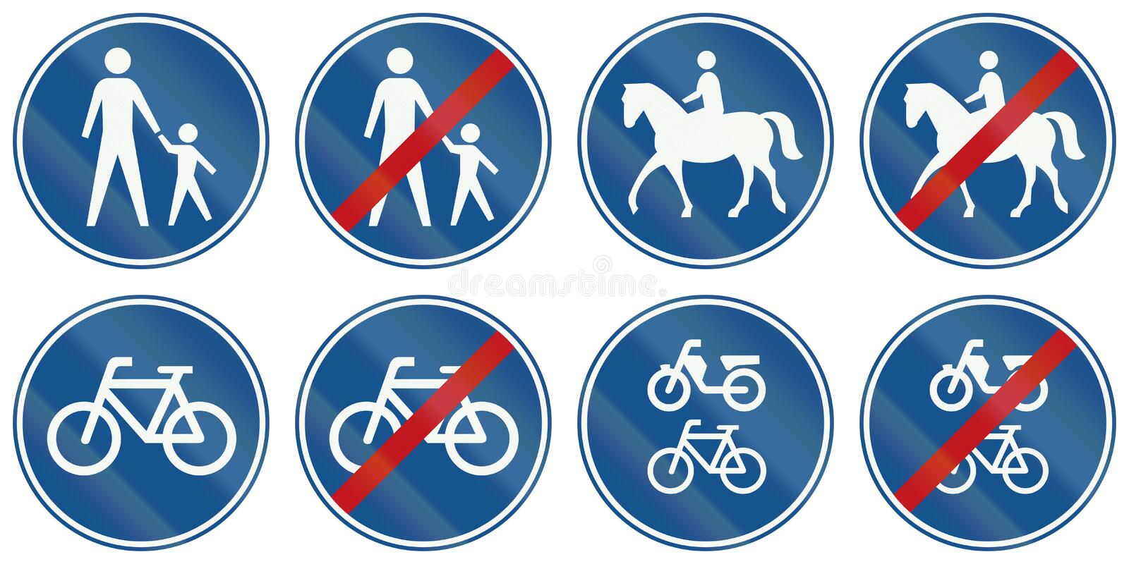 Collection of Dutch regulatory road signs royalty free illustration