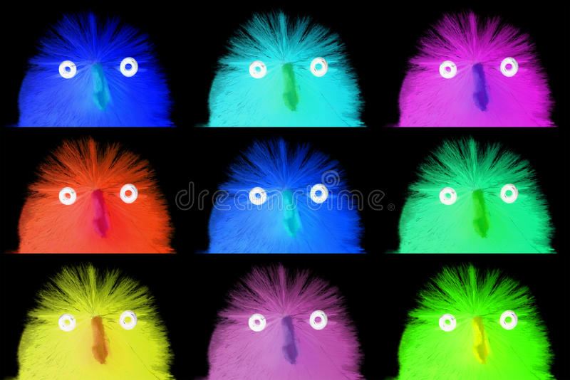 Collection of easter chicks, close-up royalty free stock images