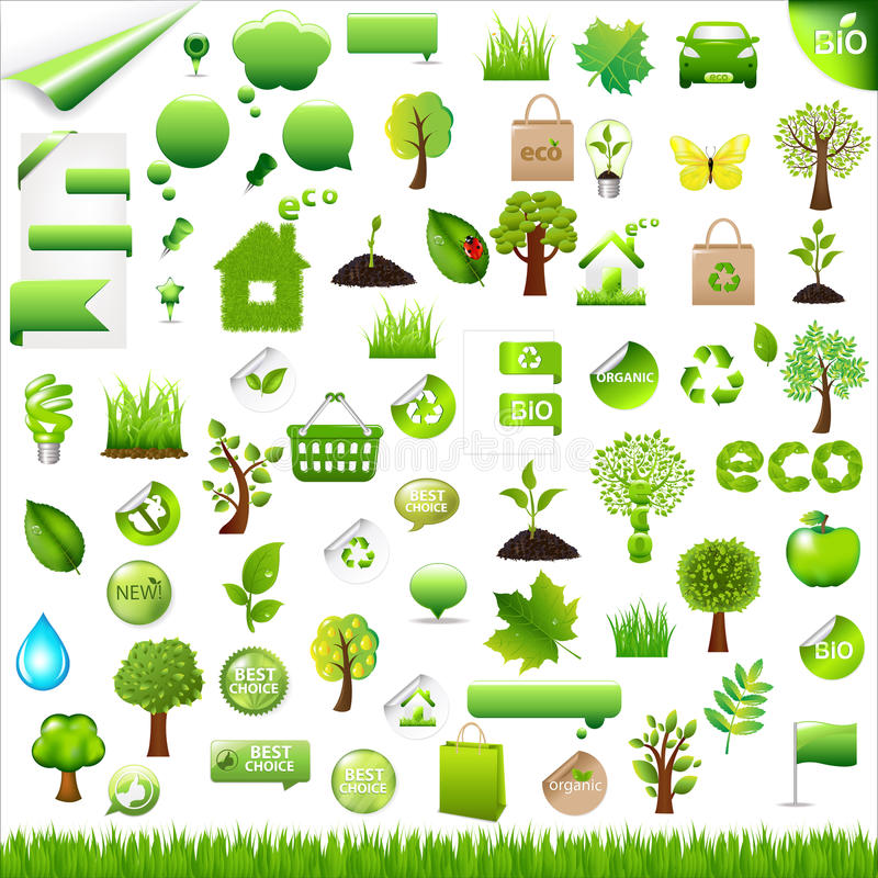 Collection Eco Design Elements. Vector stock illustration